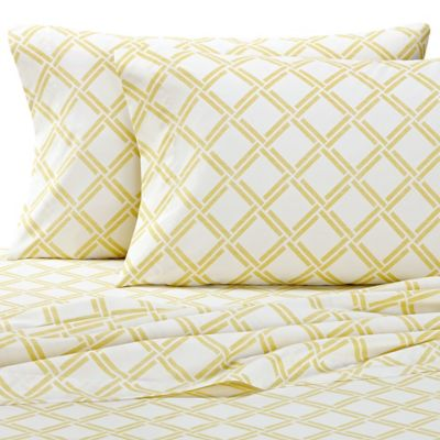 Nautica® Shelford Twin Sheet Set in Yellow/White