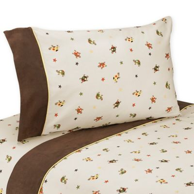 Sweet Jojo Designs Turtle Queen Sheet Set