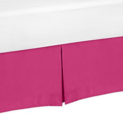 Sweet Jojo Designs Chevron Twin Bed Skirt in Pink and White