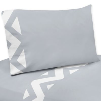 Grey and White Chevron Sheets