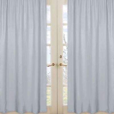 Sweet Jojo Designs Chevron Window Panel Pair in Grey