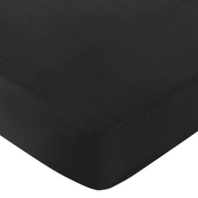 Sweet Jojo Designs Chevron Fitted Crib Sheet in Black