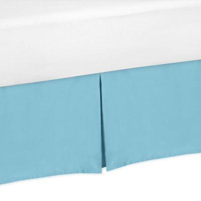 Sweet Jojo Designs Chevron Twin Bed Skirt in Turquoise