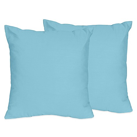 Buy Sweet Jojo Designs Chevron Throw Pillows in Turquoise (Set of 2) from Bed Bath & Beyond