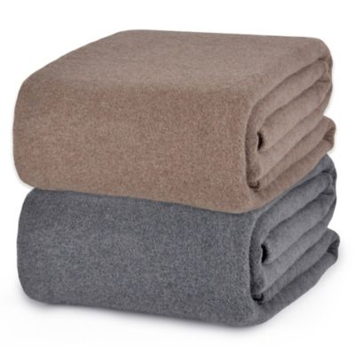 Berkshire Blanket® Softworks™ Wool Twin Blanket in Grey