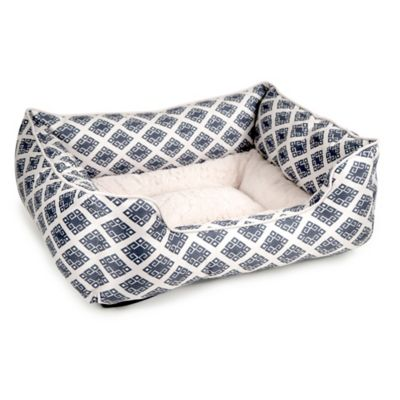 Petlinks Luxury Medium Lounger in Navy/Cream