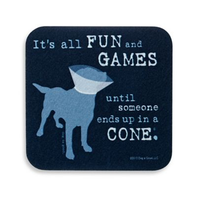 """It's All Fun and Games"" Coaster"