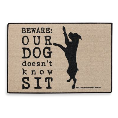 Dog Doesn't Know Sit Doormat