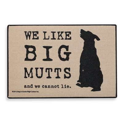"""Big Mutts"" Door Mat"