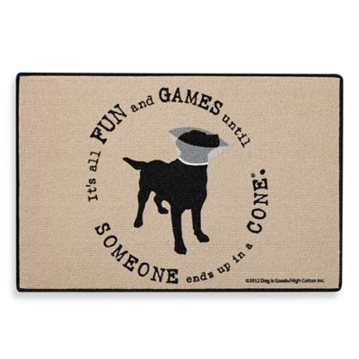 """Fun and Games"" Dog Doormat"