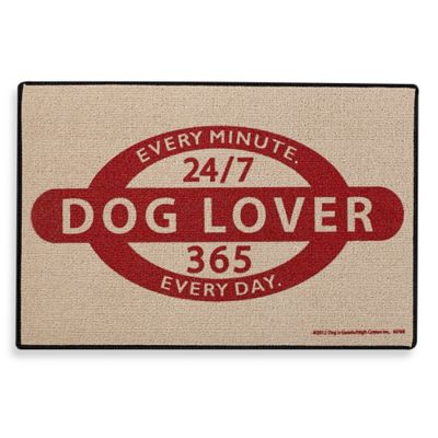 """Dog Lover 24/7"" Door Mat"