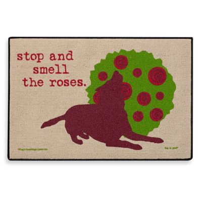 Stop and Smell the Roses Doormat
