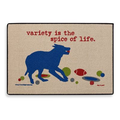 """Variety is the Spice of Life"" Doormat"