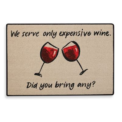 Expensive Wine Door Mat