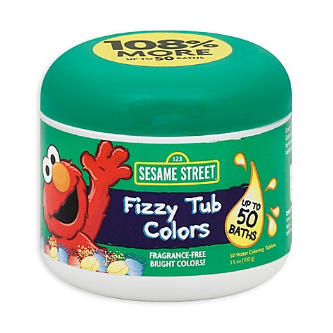 Sesame Street 174 Bath Collection 24 Count Fizzy Tub Colors