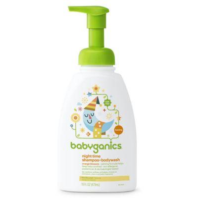 Babyganics® 16 oz. Orange Blossom Night Time Shampoo + Body Wash