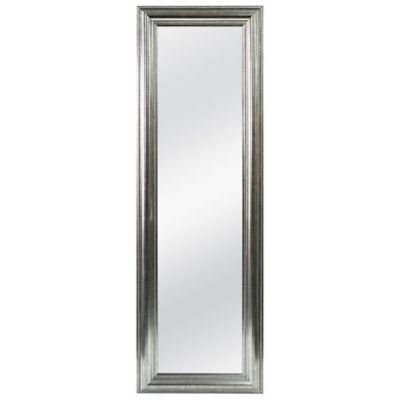 Better 53.5-Inch x 17.5-Inch Over-the-Door Mirror in Silver Double Bead
