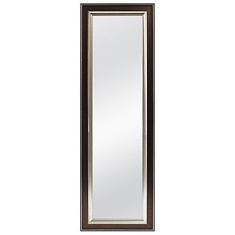 better 53 5 inch x 17 5 inch over the door mirror in. Black Bedroom Furniture Sets. Home Design Ideas