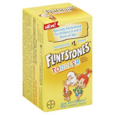 Flintstones Toddler 80-Count Chewable Multivitamin Supplement
