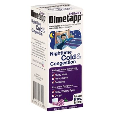 Dimetapp Nighttime 4 oz. Cold & Congestion Syrup in Grape