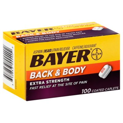 Bayer® Back & Body Extra Strength Pain Reliever 100-Count Coated Caplets