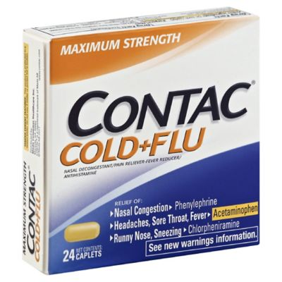 Contac® Cold + Flu 24-Count Maximum Strength Caplets