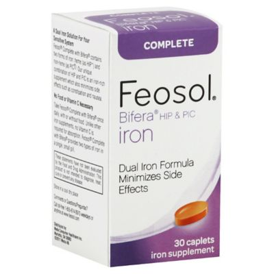 Feosol Complete 30-Count Bifera HIP & PIC Iron Supplement Caplets