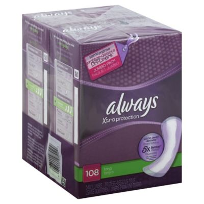 Always Dri-Liners 108-Count Long Unscented Pantiliner