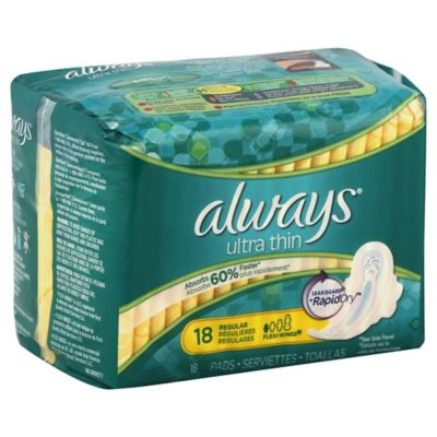 Always® Ultra Thin Flexi-Wings 18-Count Regular Pads