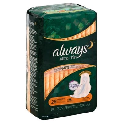 Always® Ultra Thin Flexi-Wings 28-Count Overnight Pads