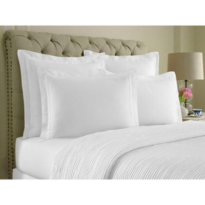 Beige White Pillow Sham