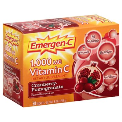Emergen-C® Vitamin C 30-Count Dietary Supplement Packets in Cranberry-Pomegranate