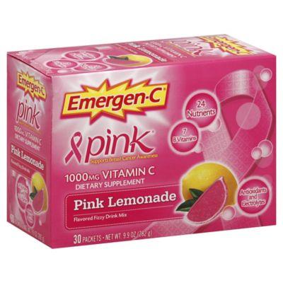 Emergen-C® Pink® 30-Count 1000 mg Vitamin C Fizzy Drink Mix Packets in Pink Lemondade