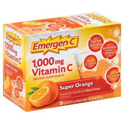 Emergen-C® 30-Count 1000 mg Vitamin C Fizzy Drink Mix Packets in Super Orange
