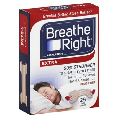 Breathe Right® Extra 26-Count Tan Nasal Strips