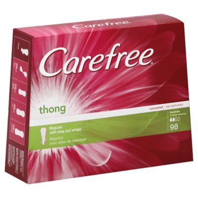 Carefree Thong 98-Count Unscented Pantiliner