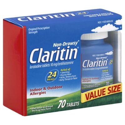 Claritin 70-Count 10 mg 24-Hour Allergy Tablets