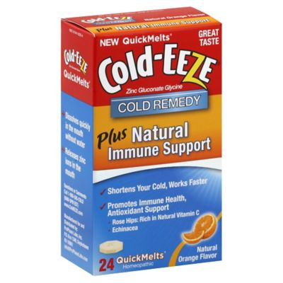 Cold-Eeze 24-Count Cold Remedy Plus Natural Immune Support Quickmelts in Natural Orange Flavor