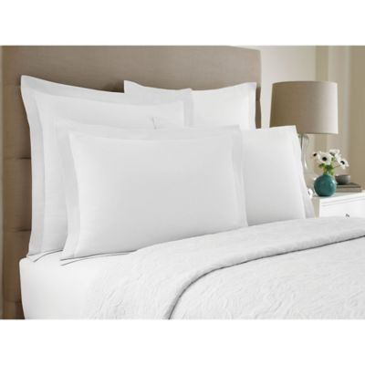 Wamsutta® Collection Button Pleated King Pillow Sham in White