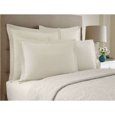 Wamsutta® Collection Button Pleated Standard Pillow Sham in White