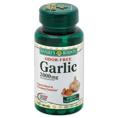 Nature's Bounty 120-Count Odor-Free Garlic 2000 mg Tablets
