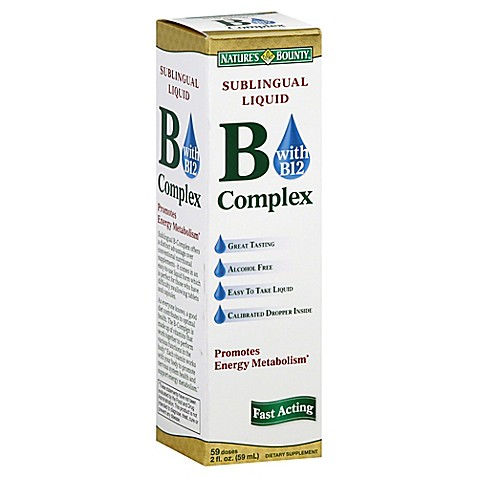 Nature S Bounty B Complex With B Sublingual Liquid Reviews