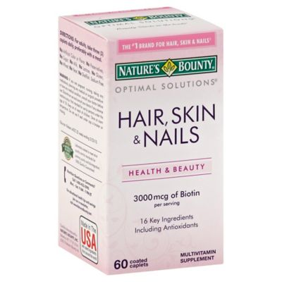Nature's Bounty 60-Count Optimal Solutions Hair, Skin & Nails Formula Caplets