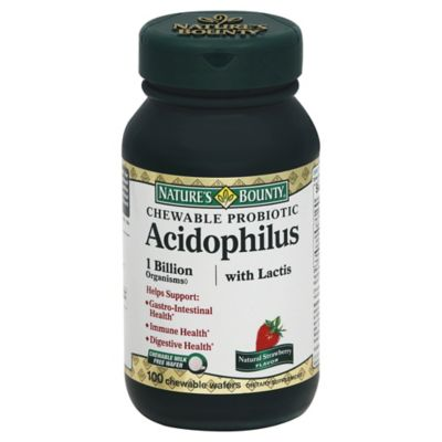 Nature's Bounty 100-Count Strawberry Acidophilus Wafers