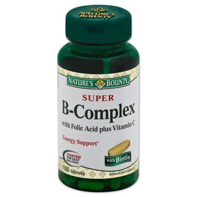 Nature's Bounty® Super B-Complex with Folic Acid/Vitamin C Supplement 100-Count Tablets