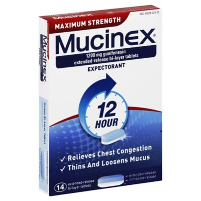 Mucinex Maximum Strength 14-Count Expectorant Tablets
