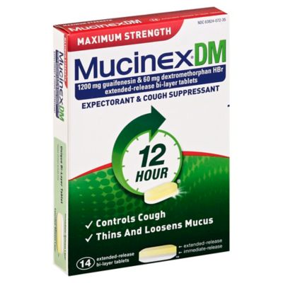 Mucinex DM 14-Count Maximum Strength Expectorant and Cough Suppressant Tablets
