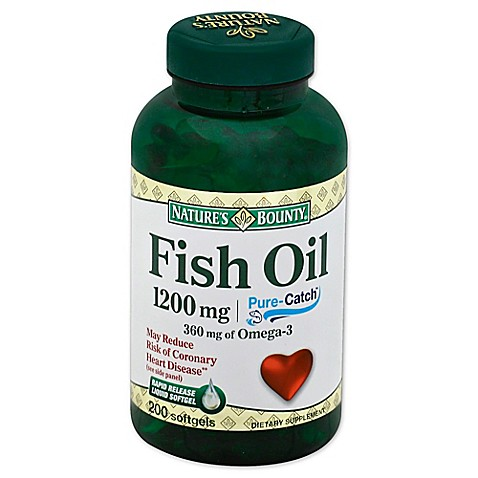 Buy nature 39 s bounty 180 count fish oil 1200mg omega 3 for Nature bounty fish oil