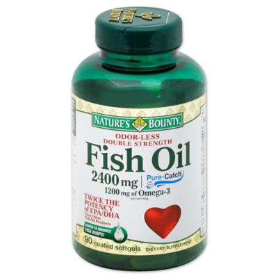 Nature's Bounty® Fish Oil 90-Count Coated Softgels