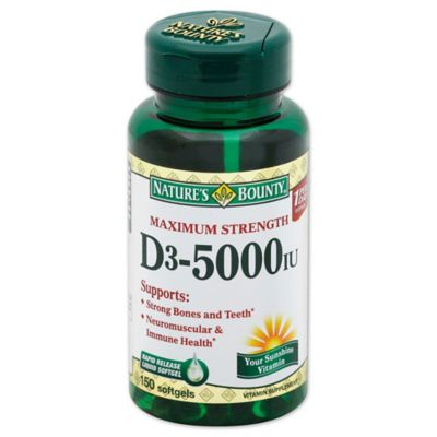 100-Count Vitamin D 5000 IU Softgels